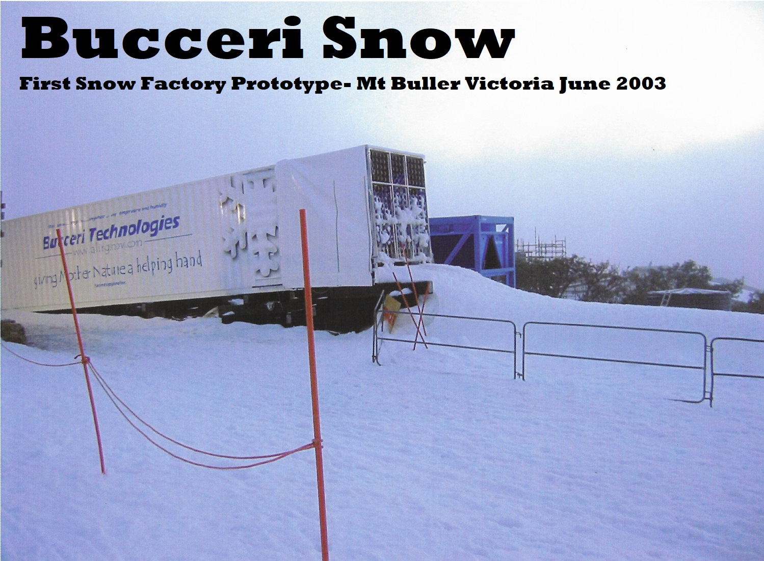 THE PROVEN SOLUTION FOR SNOW MAKING AT ANY TEMPERATURE